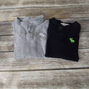 2 long sleeve Abercrombie tees, Size medium